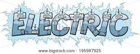 Cartoon Electric Text