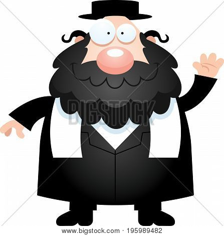 Cartoon Rabbi Waving