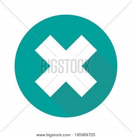 Flat cross icon isolated on white background