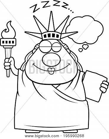 Sleeping Cartoon Statue Of Liberty