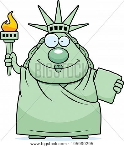 Happy Cartoon Statue Of Liberty