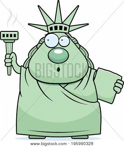 Surprised Cartoon Statue Of Liberty
