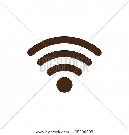 Wifi flat icon on a white background