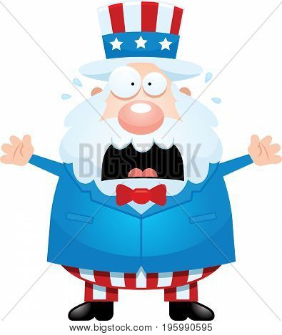 Scared Cartoon Uncle Sam