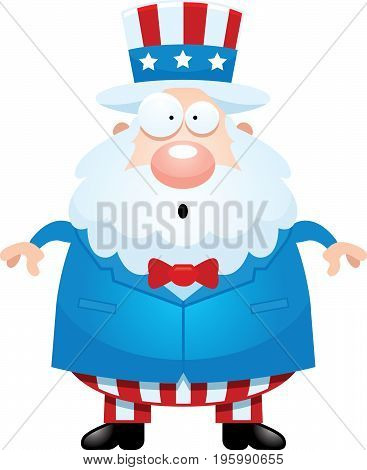 Surprised Cartoon Uncle Sam