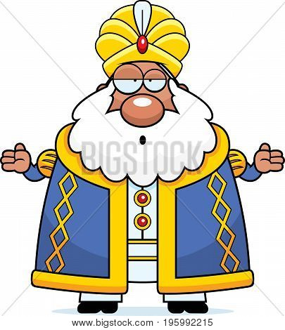 Confused Cartoon Sultan