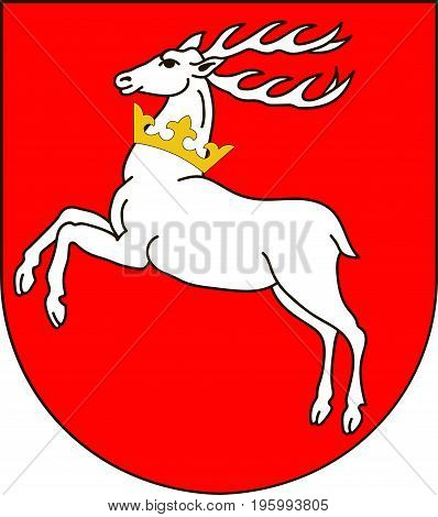 Coat of arms of Lublin Voivodeship or Lublin Province in southeastern Poland. Vector illustration from Giovanni Santi-Mazzini Heraldic 2003