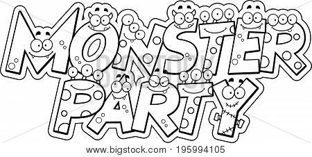 Cartoon Monster Party Text
