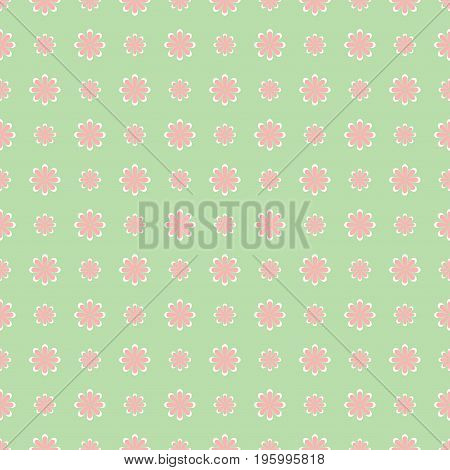 Simple cute pattern in small-scale flowers. Vector.