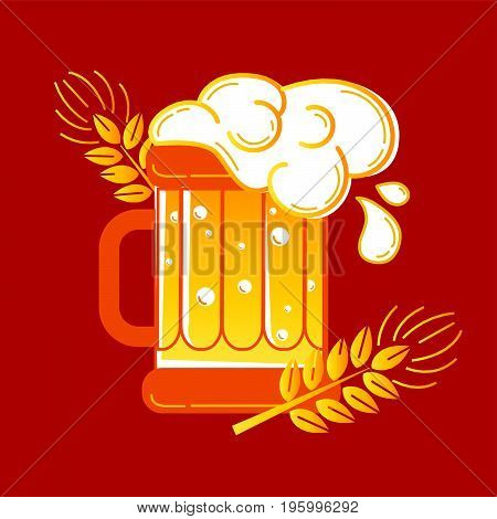 Icon Glass Of Beer And Barley