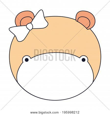 color sections faceless female elephant animal with bow lace vector illustration