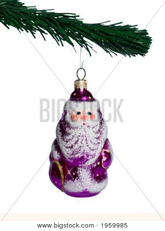 Branch Fur-Tree With Santa