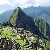 The lost Incan city of Machu Picchu near Cusco, Peru. poster