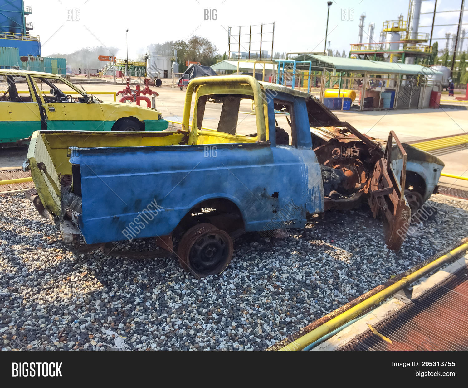 Abandoned Taxi Car On Image Photo Free Trial Bigstock