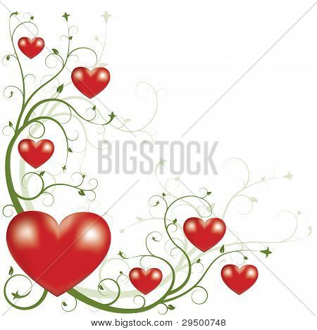 Valentine's Day Element Of Greating Card