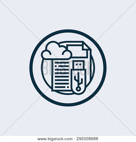 Cloud Storage Icon Isolated On White Background. Cloud Storage Icon Simple Sign. Cloud Storage Icon