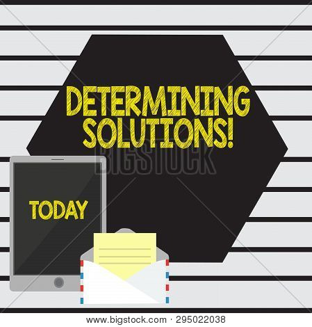 Word Writing Text Determining Solutions. Business Concept For Identifying Business Needs And Determi