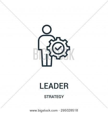 Leader Icon Isolated On White Background From Strategy Collection. Leader Icon Trendy And Modern Lea