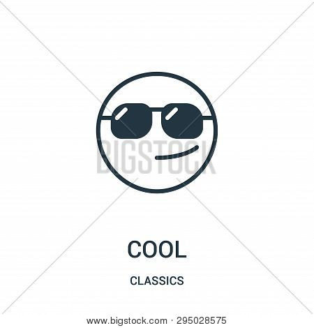 Cool Icon Isolated On White Background From Classics Collection. Cool Icon Trendy And Modern Cool Sy