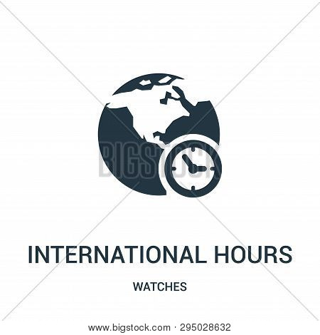 International Hours Symbol Icon Isolated On White Background From Watches Collection. International