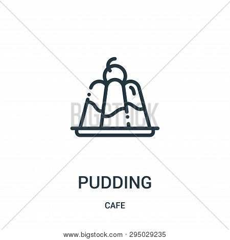 Pudding Icon Isolated On White Background From Cafe Collection. Pudding Icon Trendy And Modern Puddi