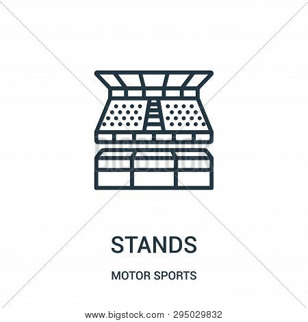 Stands Icon Isolated On White Background From Motor Sports Collection. Stands Icon Trendy And Modern
