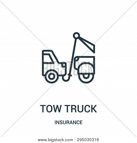 Tow Truck Icon Isolated On White Background From Insurance Collection. Tow Truck Icon Trendy And Mod