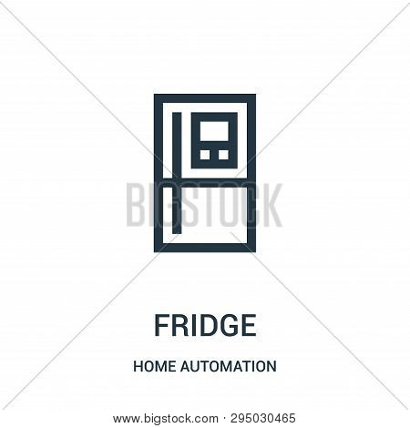 Fridge Icon Isolated On White Background From Home Automation Collection. Fridge Icon Trendy And Mod