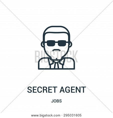 Secret Agent Icon Isolated On White Background From Jobs Collection. Secret Agent Icon Trendy And Mo