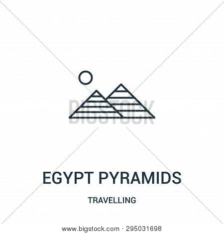 Egypt Pyramids Icon Isolated On White Background From Travelling Collection. Egypt Pyramids Icon Tre