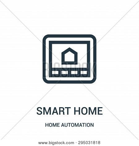 Smart Home Icon Isolated On White Background From Home Automation Collection. Smart Home Icon Trendy