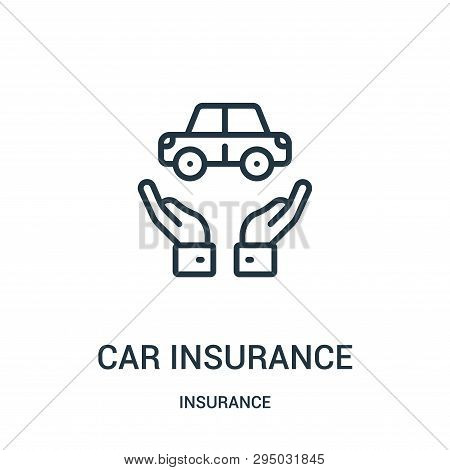 Car Insurance Icon Isolated On White Background From Insurance Collection. Car Insurance Icon Trendy