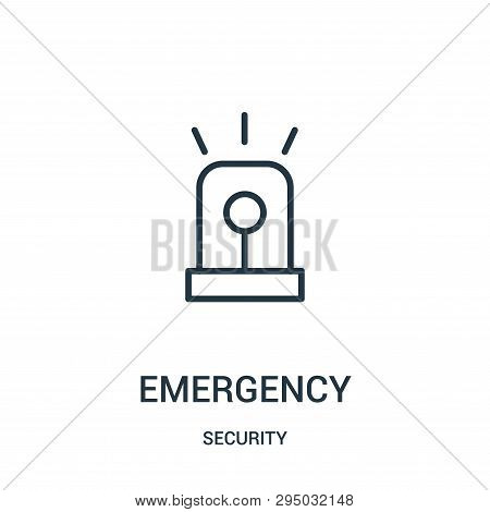 Emergency Icon Isolated On White Background From Security Collection. Emergency Icon Trendy And Mode
