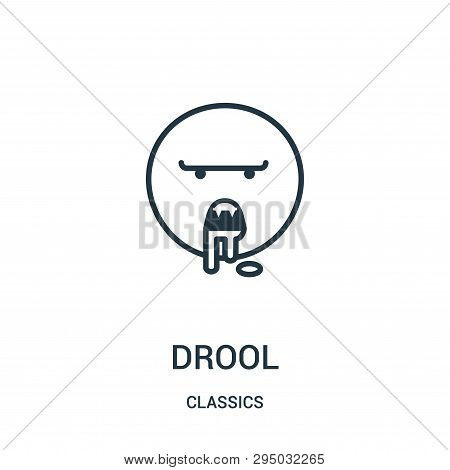 Drool Icon Isolated On White Background From Classics Collection. Drool Icon Trendy And Modern Drool