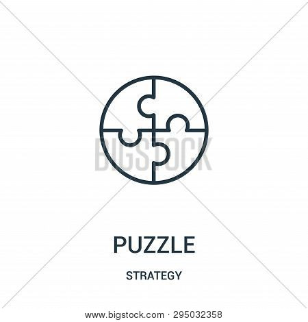 Puzzle Icon Isolated On White Background From Strategy Collection. Puzzle Icon Trendy And Modern Puz
