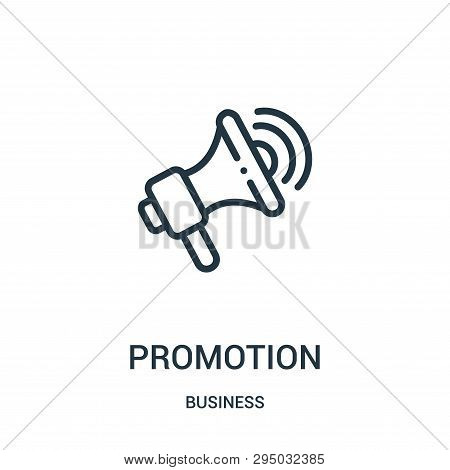 Promotion Icon Isolated On White Background From Business Collection. Promotion Icon Trendy And Mode