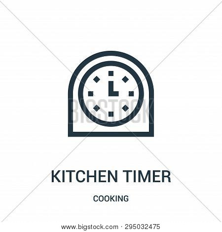 Kitchen Timer Icon Isolated On White Background From Cooking Collection. Kitchen Timer Icon Trendy A