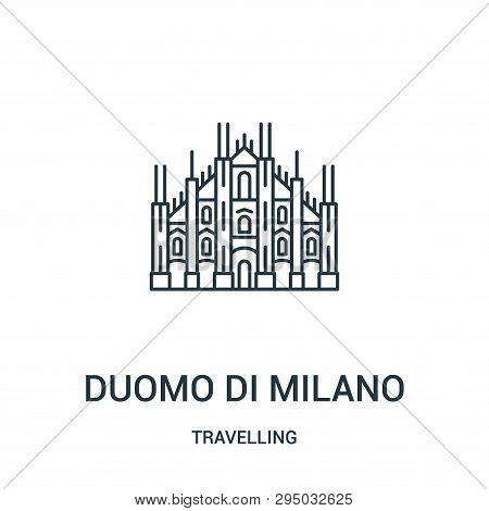 Duomo Di Milano Icon Isolated On White Background From Travelling Collection. Duomo Di Milano Icon T