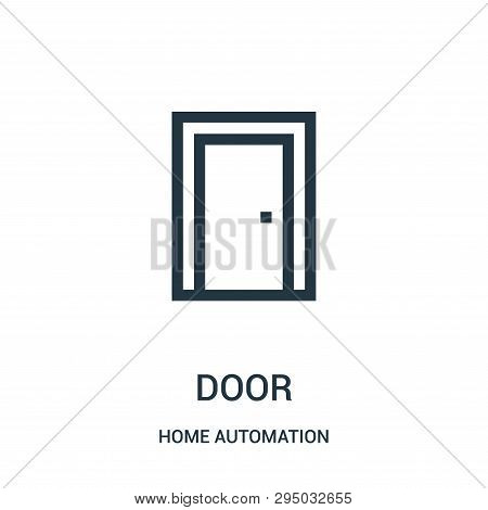 Door Icon Isolated On White Background From Home Automation Collection. Door Icon Trendy And Modern