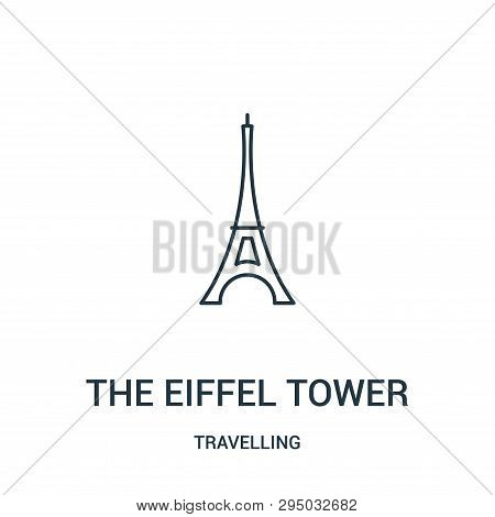 The Eiffel Tower Icon Isolated On White Background From Travelling Collection. The Eiffel Tower Icon