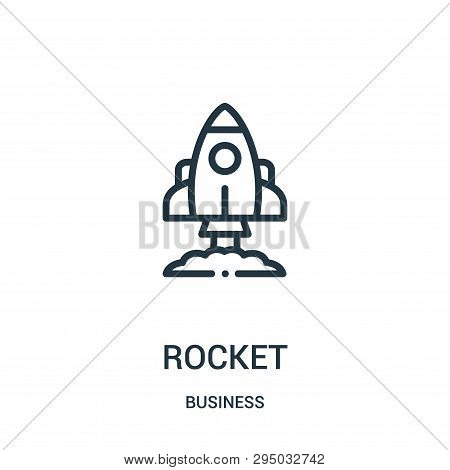 Rocket Icon Isolated On White Background From Business Collection. Rocket Icon Trendy And Modern Roc