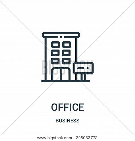 Office Icon Isolated On White Background From Business Collection. Office Icon Trendy And Modern Off