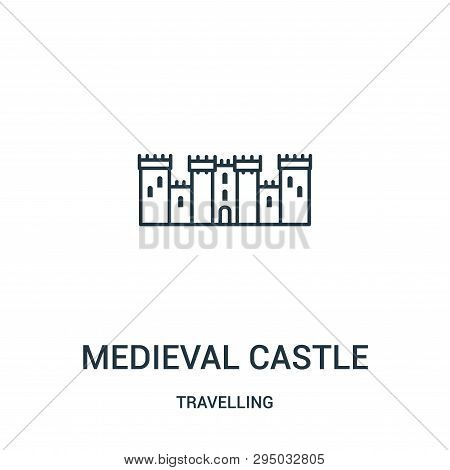 Medieval Castle Icon Isolated On White Background From Travelling Collection. Medieval Castle Icon T