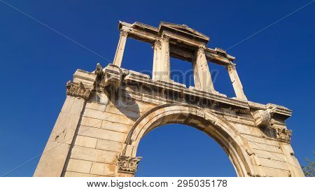 Arch Of Hadrian In Downtown Athens, Greece
