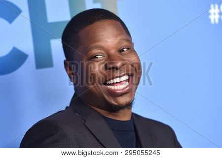 LOS ANGELES - APR 10:  Jason Mitchell arrives for Shotime's 'The Chi' FYC Event on April 10, 2019 in West Hollywood, CA