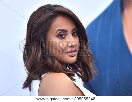 LOS ANGELES - APR 08:  Francia Raisa arrives for the 'Little' Premiere on April 08, 2019 in Westwood, CA