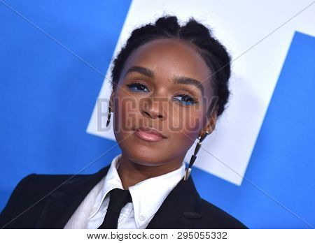 LOS ANGELES - APR 08:  Janelle Monae arrives for the 'Little' Premiere on April 08, 2019 in Westwood, CA