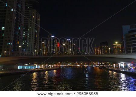 Evening High-rise Area Of Dubai