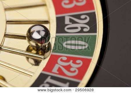 Macro shot of beautiful gold roulette