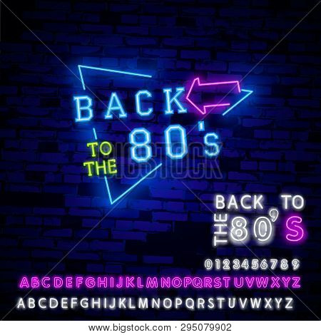 Back 80s Neon Sign Vector & Photo (Free Trial) | Bigstock